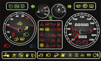 Car Dashboard Warning Lights Vehicle Warning Indicators