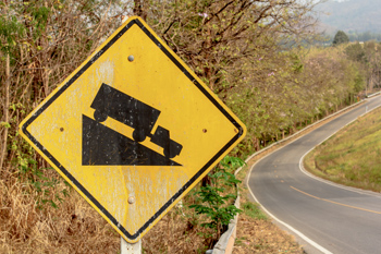 downhill sign