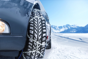 tire chain creating static friction