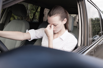 driver with negative emotions
