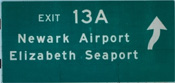 freeway guide sign exit