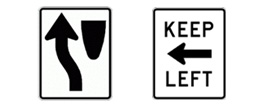 keep left signs
